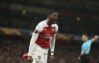 Arsenal's Ainsley Maitland-Niles celebrates scoring his side's second goal <br /> <br /> Photographer Rob Newell/CameraSport<br /> <br /> Football - UEFA Europa League Round of 16 Leg 2 - Arsenal v Rennes - Thursday 14th March 2019 - The Emirates - London<br />  <br /> World Copyright © 2018 CameraSport. All rights reserved. 43 Linden Ave. Countesthorpe. Leicester. England. LE8 5PG - Tel: +44 (0) 116 277 4147 - admin@camerasport.com - www.camerasport.com