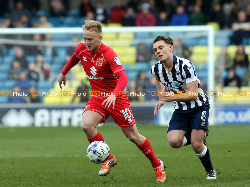 Ben Reeves of MK Dons in action during Millwall vs MK Dons, Sky Bet EFL League 1 Football at The Den on 4th March 2017