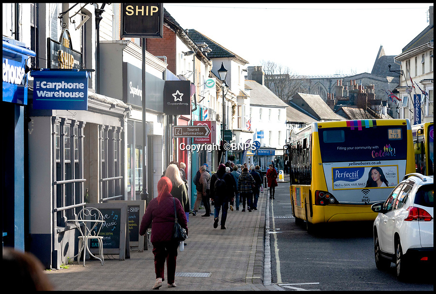 BNPS.co.uk (01202 558833)<br /> Pic:  RogerArbon/BNPS<br /> <br /> Christchurch High Street.<br /> <br /> A retirement town that is overspilling with coffee shops is to get its 15th after officials lost their bid to put a lid on them.<br /> <br /> Councillors in Christchurch, Dorset, refused a Coffee#1 permission to take over an empty shop because the town had too many cafes.<br /> <br /> But the national chain appealed the decision and have won their case.<br /> <br /> It means there will now be 15 coffee shops in a 500 metre stretch of the High Street - or one every 33 metres.