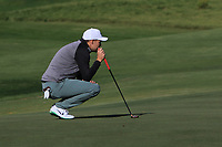 Martin Simonsen (DEN) on the 4th green during Round 3 of the Challenge Tour Grand Final 2019 at Club de Golf Alcanada, Port d'Alcúdia, Mallorca, Spain on Saturday 9th November 2019.<br /> Picture:  Thos Caffrey / Golffile<br /> <br /> All photo usage must carry mandatory copyright credit (© Golffile | Thos Caffrey)