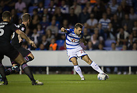 Adrian Popa of Reading scores a goal via a deflection to make it 1 0 during the Sky Bet Championship match between Reading and Aston Villa at the Madejski Stadium, Reading, England on 15 August 2017. Photo by Andy Rowland / PRiME Media Images.<br /> **EDITORIAL USE ONLY FA Premier League and Football League are subject to DataCo Licence.