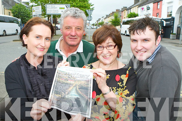 Rachel Foley, Mike O'Connor, Joan Holland and David O'Connor who will be holding the launch of the East Kerry Roots festival in the River Island Hotel Castleisland this Friday at 4pm