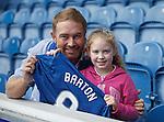 A young Rangers fan with Joey Barton's shirt