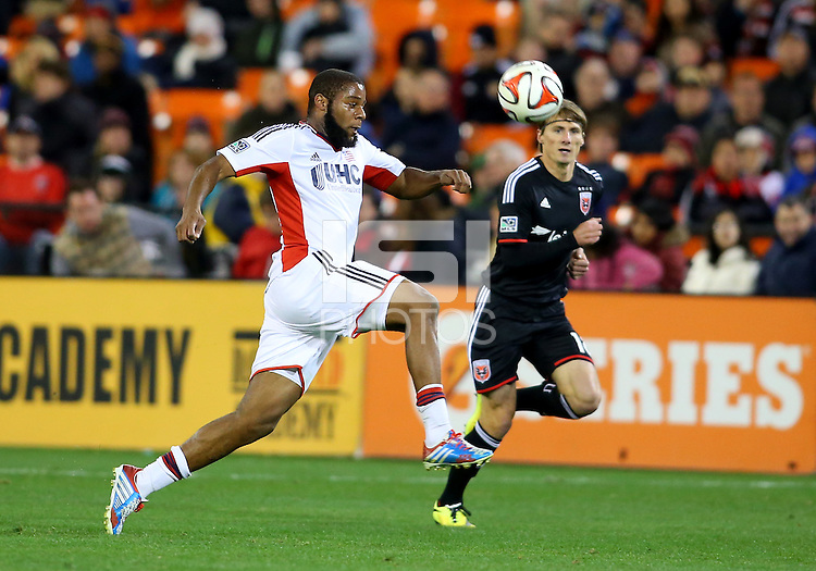 WASHINGTON, D.C - April 05 2014: D.C. United vs the New England Revolution in an MLS match at RFK Stadium, in Washington D.C. United won 2-0.