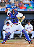 28 February 2011: New York Mets catcher Dusty Ryan in action against the Washington Nationals at Digital Domain Park in Port St. Lucie, Florida. The Nationals defeated the Mets 9-3 in Grapefruit League action. Mandatory Credit: Ed Wolfstein Photo