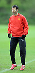 Ryan Giggs of Manchester United during training before the champions league fixture against Barcelona. Picture date 28th April 2008. Picture credit should read: Simon Bellis/Sportimage
