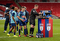 Wycombe Wanderers' goalkeeper Ryan Allsop collects his winners medal <br /> <br /> Photographer Andrew Kearns/CameraSport<br /> <br /> Sky Bet League One Play Off Final - Oxford United v Wycombe Wanderers - Monday July 13th 2020 - Wembley Stadium - London<br /> <br /> World Copyright © 2020 CameraSport. All rights reserved. 43 Linden Ave. Countesthorpe. Leicester. England. LE8 5PG - Tel: +44 (0) 116 277 4147 - admin@camerasport.com - www.camerasport.com