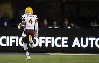 Koron Crump appeared to have a pick-six, but a penalty on the runback kept ASU out of the end zone.