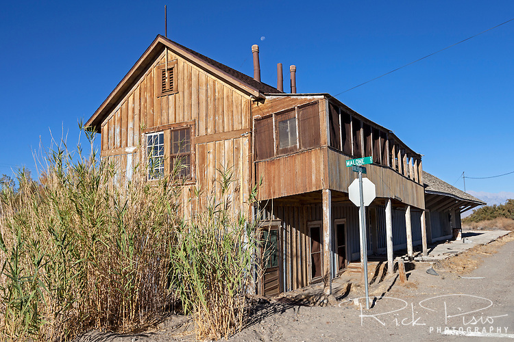 Keeler Railroad Depot in Keeler, California was the end of the line for the Carson and Colorado Railroad.