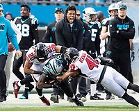 Charlotte, North Carolina - December 23, 2018: Bank of America Stadium.  The Carolina Panthers host the Atlanta Falcons.  Final score Atlanta 24, Carolina 10.