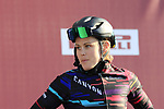 Tiffany Cromwell (AUS) Canyon-Sram at sign on before the Strade Bianche Women Elite 2019 running 133km from Siena to Siena, held over the white gravel roads of Tuscany, Italy. 9th March 2019.<br /> Picture: Eoin Clarke | Cyclefile<br /> <br /> <br /> All photos usage must carry mandatory copyright credit (© Cyclefile | Eoin Clarke)