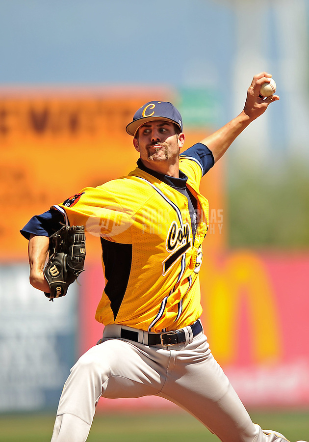 May 31, 2010; Grand Junction, CO, USA; Southern Nevada Coyotes pitcher Bryan Harper against the Faulkner State Sun Chiefs during the Junior College World Series as Suplizio Field. Southern Nevada won the game 18-1. Mandatory Credit: Mark J. Rebilas-