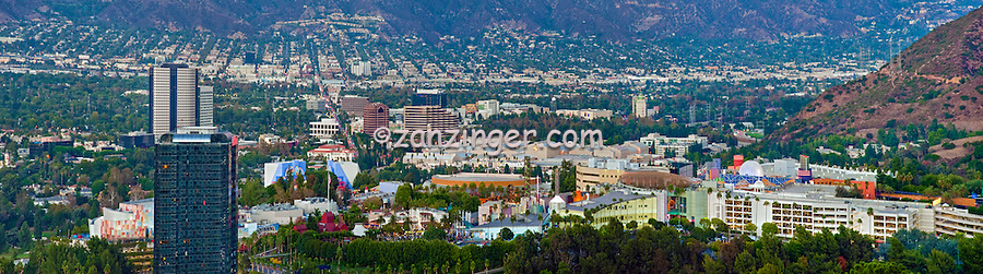 Universal City, CA, Overlook, San Fernando Valley, San Gabriel mountain, Universal Studios, Burbank,  Glendale, CA, California
