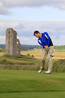 Keith MacKenzie (Bruntsfield Links golfing society) on the 13th tee during Round 2 of The South of Ireland in Lahinch Golf Club on Sunday 27th July 2014.<br /> Picture:  Thos Caffrey / www.golffile.ie