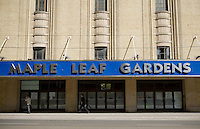 The Maple Leaf Garden building is seen in Toronto April 21, 2010. The   Maple Leaf Garden was home to the Toronto Maple Leafs of the National Hockey League from 1931 to 1999.