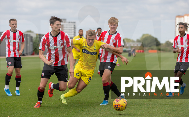 Alex Pattison of Wycombe Wanderers during the behind closed doors friendly between Brentford B and Wycombe Wanderers at Brentford Football Club Training Ground & Academy, 100 Jersey Road, TW5 0TP, United Kingdom on 3 September 2019. Photo by Andy Rowland.