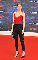 Emma Stone at the &quot;Maniac&quot; UK TV premiere, BFI Southbank, Belvedere Road, London, England, UK, on Thursday 13 September 2018.<br /> CAP/CAN<br /> &copy;CAN/Capital Pictures