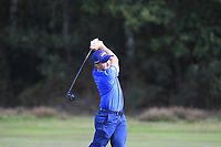 Paul Dunne (IRL) on the 2nd fairway during Round 3 of the Sky Sports British Masters at Walton Heath Golf Club in Tadworth, Surrey, England on Saturday 13th Oct 2018.<br /> Picture:  Thos Caffrey | Golffile