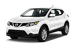 2018 Nissan Rogue Sport S 4WD 5 Door SUV angular front stock photos of front three quarter view