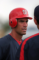 Washington Nationals Travis Lee practice before a Grapefruit League Spring Training game at the Chain of Lakes Complex on March 16, 2007 in Winter Haven, Florida.  (Mike Janes/Four Seam Images)