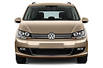 Car photography straight front view of a 2016 Volkswagen Sharan Confortline 5 Door Minivan Front View