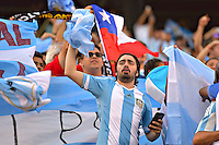 Photo before the match Argentina vs Chile corresponding to the Final of America Cup Centenary 2016, at MetLife Stadium.<br /> <br /> Foto previo al partido Argentina vs Chile cprresponidente a la Final de la Copa America Centenario USA 2016 en el Estadio MetLife , en la foto:Fans de Argentina<br /> <br /> <br /> 26/06/2016/MEXSPORT/ISAAC ORTIZ