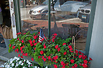 Window box full of flowers in Wiscasset, ME