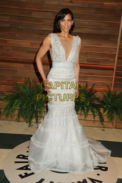 02 March 2014 - West Hollywood, California - Paula Patton. 2014 Vanity Fair Oscar Party following the 86th Academy Awards held at Sunset Plaza.  <br /> CAP/ADM/BP<br /> &copy;Byron Purvis/AdMedia/Capital Pictures