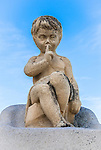 Angel Boy Statue near the Notre-Dame de la Garde in Marseilles, France