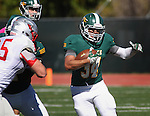 SPEARFISH, SD - OCTOBER 10, 2015 -- Phydell Paris #34 of Black Hills State turns a corner against Western State Colorado during their college football game Saturday at Lyle Hare Stadium in Spearfish, S.D. (Photo by Dick Carlson/Inertia)