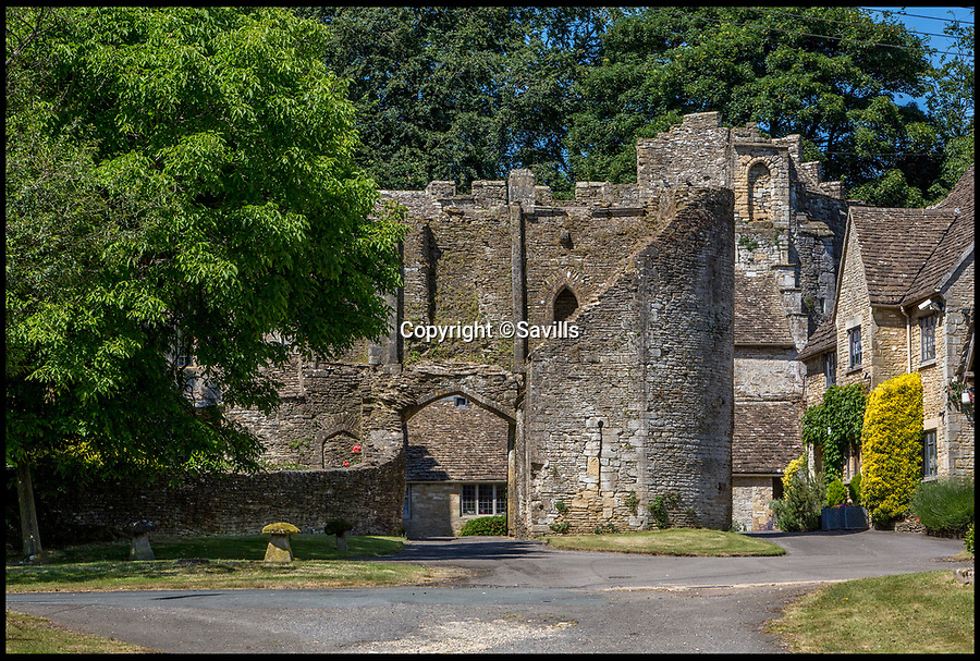 BNPS.co.uk (01202)558833<br /> Pic:   Savills/BNPS<br /> <br /> The Gatehouse approach.<br /> <br /> A 800 year old castle that stands over Prince Charles' Highgrove estate and was left a ruin by the Civil War has gone on the market for £10m.<br /> <br /> Beverston Castle, on the outskirts of Tetbury, Gloucs, is only partly habitable today but has a charming seven bedroom manor house built on to it.<br /> <br /> The historic property, that comes with a huge 693 acres of land, had been owned for 70 years by the late showjumper Major Laurence Rook and his wife Jane.<br /> <br /> The couple were famed for the hospitality they laid on to visitors of the week-long Badminton Horse Trials which is nearby.