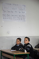Serbia. Veliki Trnovac (in Albanian: Tërnoc i Madh) is a town in the municipality of Bujanovac, located in the Pčinja District of southern Serbia. « Muharrem Kadriu » Elementary School. The school's students are all from Albanian ethnicity. Classroom. 6th Grade. Two boys listen to their teacher during an History class. Bujanovac is located in the geographical area known as Preševo Valley. The Pestalozzi Children's Foundation (Stiftung Kinderdorf Pestalozzi) is advocating access to high quality education for underprivileged children. It supports in Bujanovac a project called » Our towns, our schools ». 16.4.2018 © 2018 Didier Ruef for the Pestalozzi Children's Foundation