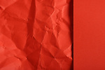 red paper background - Crumpled partially<br />