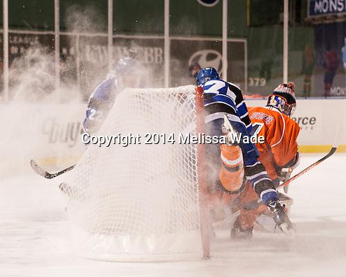 Kit Sitterley (UMB - 27), Ryan Sutliffe (SSU - 1) - The University of Massachusetts Boston Beacons defeated the Salem State University Vikings 4-2 (EN) on Tuesday, January 7, 2014, at Fenway Park in Boston, Massachusetts.