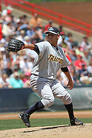 Trenton Thunder pitcher Vidal Nuno #48 on the mound during a game against the Richmond Flying Squirrels at The Diamond on May 27, 2012 in Richmond, Virginia. Richmond defeated Trenton by the score of 5-2. (Robert Gurganus/Four Seam Images)