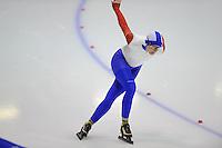 SCHAATSEN: HEERENVEEN: Thialf, 4th Masters International Speed Skating Sprint Games, 25-02-2012, Marianne de Neeling (F50) 3rd, ©foto: Martin de Jong
