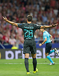 Chelsea´s defense Cesar Azpilicueta lamenting during the UEFA Champions League group C match between Atletico Madrid and Chelsea played at the Wanda Metropolitano Stadium in Madrid, on September 27th 2017.