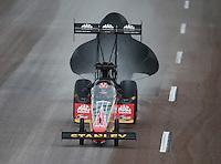 Feb 20, 2015; Chandler, AZ, USA; NHRA top fuel driver Doug Kalitta during qualifying for the Carquest Nationals at Wild Horse Pass Motorsports Park. Mandatory Credit: Mark J. Rebilas-