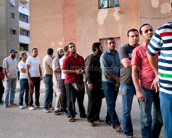 EGYPT - ON THE ROAD TO THE POLLING STATIONS .copyright : Magali Corouge / Documentography.22th of may 2012, Egypt. ..A polling station in Suez, Egypt..