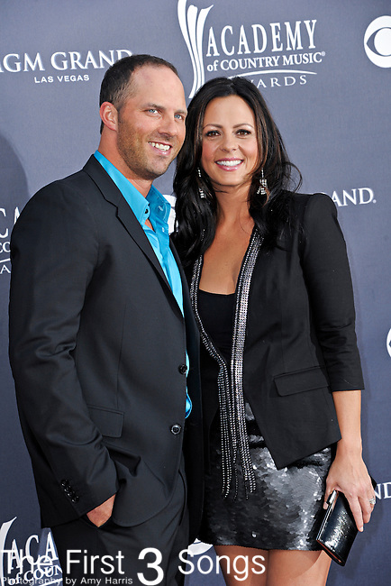 Sara Evans and husband Jay Barker attend the 46th Annual Academy of Country Music Awards in Las Vegas, Nevada on April 3, 2011.