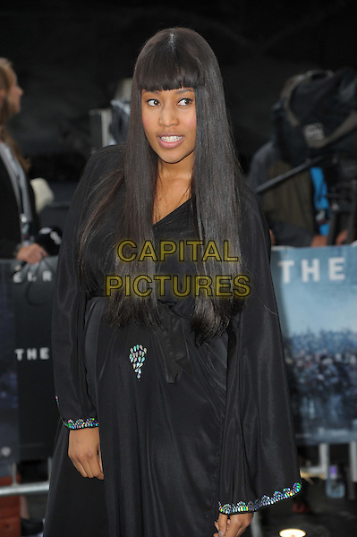 VV Brown (Vanessa Brown).'The Dark Knight Rises' European premiere at Odeon Leicester Square cinema, London, England..18th July 2012.half length black dress.CAP/CAS.©Bob Cass/Capital Pictures.