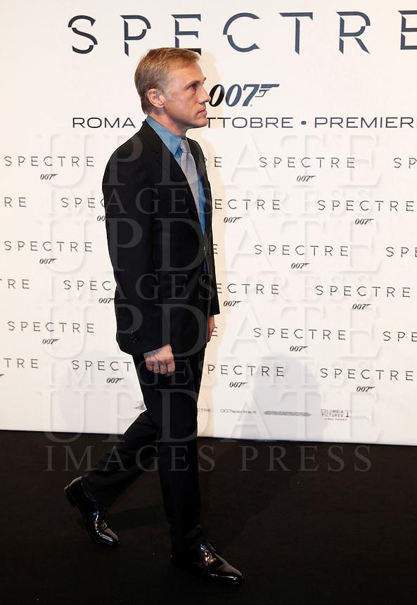 L'attore austriaco Christoph Waltz posa sul red carpet per la premiere del film 'Spectre' a Roma, 27 ottobre 2015 .<br /> Austrian actor Christoph Waltz poses on the red carpet for the premiere of the movie 'Spectre' premiere in Rome, 27 October 2015 .<br /> UPDATE IMAGES PRESS/Isabella Bonotto<br /> <br /> *** ITALY AND GERMANY OUT  ***