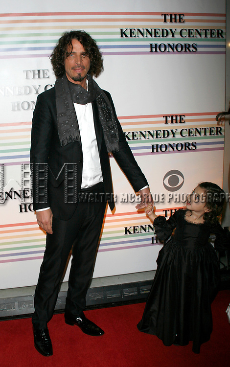 Chris Cornell & daughter<br />arriving for The 31st Kennedy Center Honors at the Kennedy Center Hall of States in Washington, D.C. December 7, 2008
