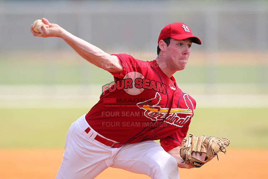 St. Louis Cardinals minor league pitcher Aidan Lucas #58 delivers a pitch during a spring training game vs the Florida Marlins at the Roger Dean Sports Complex in Jupiter, Florida;  March 25, 2011.  Photo By Mike Janes/Four Seam Images