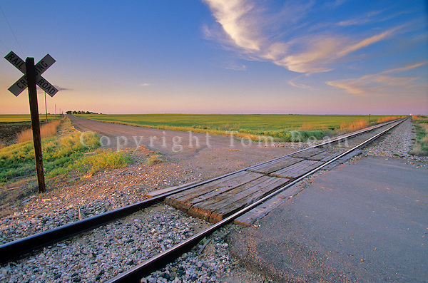 Railroad Crossing along country road on Highway 23, near Venango, Nebraska, AGPix_0174 .