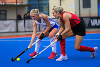 Action from the 2019 Women's National Hockey League match between Auckland and Canterbury at Blake Park in Mount Maunganui, New Zealand on Saturday, 14 September 2019. Photo: Dave Lintott / lintottphoto.co.nz
