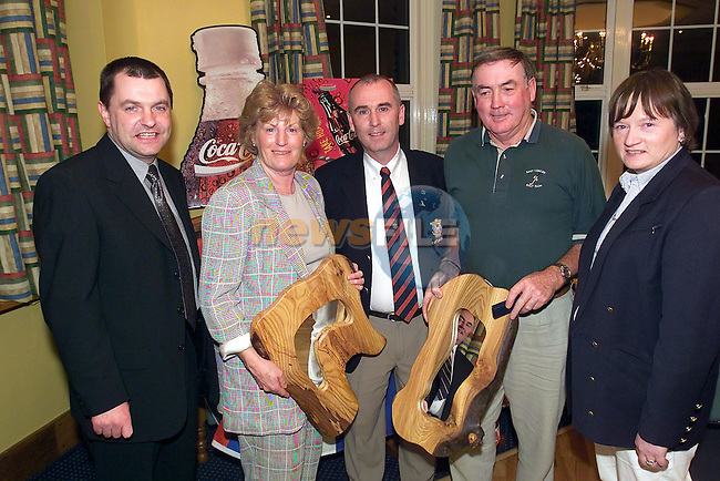 Declan McKeown Drogheda Concentrates, Carmel Rooney First Prize winner, captain  martin Ryan, Frank Pentony first prise winner and Maura Madden Drogheda Concentrates at the presentation of prizes for the RNLI golf mixed fours in Co Louth Golf Club..Picture sent on Behalf of Drogheda Concentrates...Picture Fran Caffrey Newsfile..This Picture is sent to you by:..Newsfile Ltd.The View, Millmount Abbey, Drogheda, Co Louth, Ireland..Tel: +353419871240.Fax: +353419871260.GSM: +353862500958.ISDN: +353419871010.email: pictures@newsfile.ie.www.newsfile.ie
