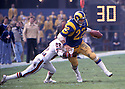 Los Angeles Rams John Cappelletti(22) in action during a game against the Atlanta Falcons at the Los Angeles Memorial Coliseum in Los Angeles, California  on December 11, 1977. The Rams beat the Falcons 23-7. John Cappelletti played for 9 years with 2 different teams.David Durochik/SportPics