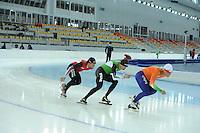 SPEEDSKATING: SOCHI: Adler Arena, 19-03-2013, Training, Konrad Niedzwiedzki (POL), Sven Kramer (NED), Koen Verweij (NED), © Martin de Jong