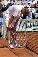 20030608, Paris, Tennis, Roland Garros, Martin Verkerk is kansloos in de finale tege Ferrero